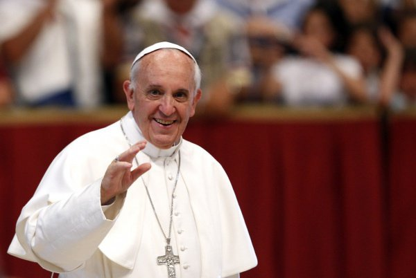 Его Святейшество Папа Римский Франциск на встрече с молодежью